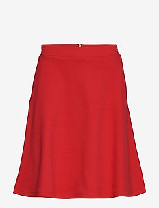 Skirts knitted - korte nederdele - dark red