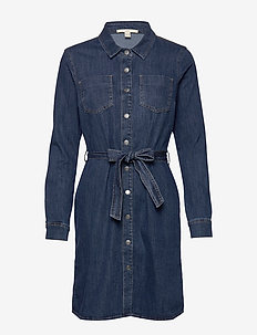Dresses denim - shirt dresses - blue dark wash