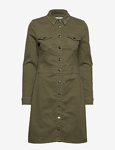 Dresses woven - KHAKI GREEN