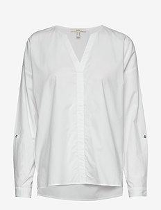 Blouses woven - langermede bluser - white