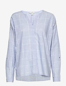 Blouses woven - bluzki z długimi rękawami - light blue