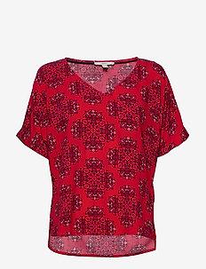Blouses woven - bluzki z krótkim rękawem - dark red 4