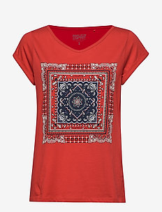 T-Shirts - t-shirts med tryk - dark red