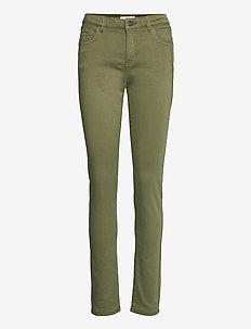 Pants woven - slim fit bukser - khaki green