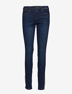 Pants denim - skinny jeans - blue dark wash