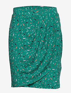 Skirts knitted - pencil skirts - teal green