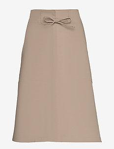 Skirts woven - midi skirts - beige