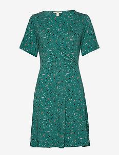 Dresses knitted - slå-om-kjoler - teal green