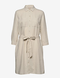 Dresses light woven - shirt dresses - sand