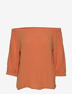 Blouses woven - bluzki z długimi rękawami - rust orange