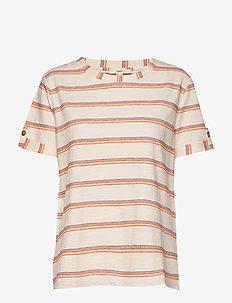 T-Shirts - striped t-shirts - rust orange