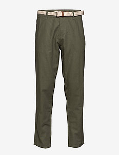 Pants woven - chino's - dusty green