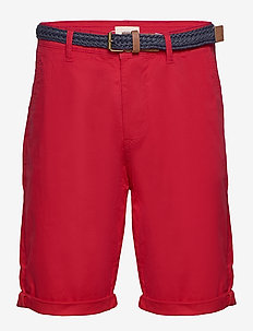 Shorts woven - spodenki chinos - red