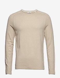 Sweaters - basic knitwear - beige 5