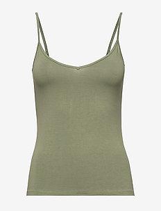 T-Shirts - sleeveless tops - light khaki