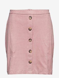 Skirts knitted - midi skirts - old pink