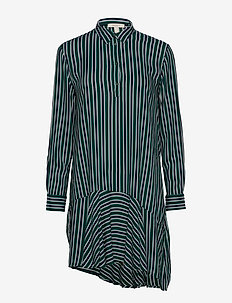 Dresses light woven - robes chemises - emerald green