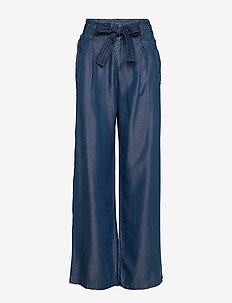 Pants denim - uitlopende broeken - blue dark wash