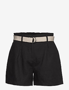 Shorts woven - paper bag shorts - black