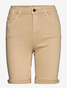Shorts woven - denimshorts - skin beige