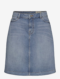 Skirts denim - denimnederdele - blue medium wash