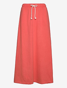 Skirts knitted - midinederdele - coral 4