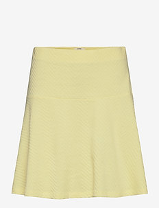 Skirts knitted - midinederdele - lime yellow