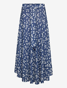 Skirts knitted - maxi skirts - bright blue