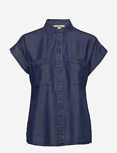 Blouses denim - denim shirts - blue dark wash