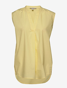 Blouses woven - blouses zonder mouwen - lime yellow