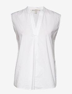 Blouses woven - blouses zonder mouwen - white