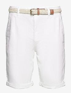 Shorts woven - spodenki chinos - white