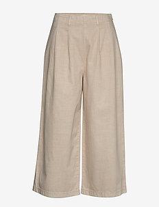 Pants woven - wide leg trousers - beige
