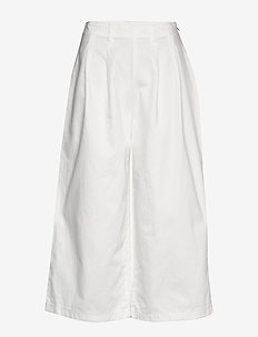 Pants woven - wide leg trousers - white