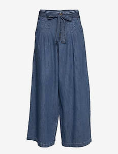 Pants denim - bukser med brede ben - blue medium wash