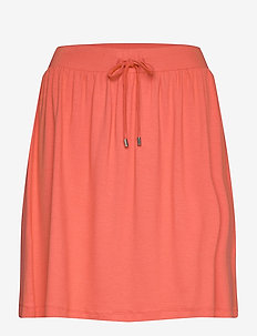 Skirts knitted - short skirts - coral