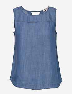 Blouses denim - Ærmeløse bluser - blue medium wash
