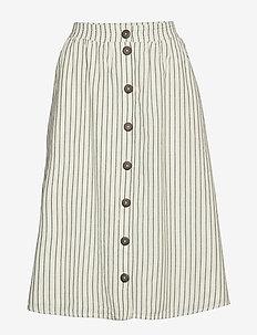 Skirts light woven - midinederdele - off white 2