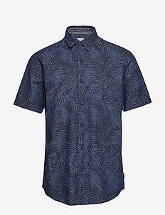 Shirts woven - BLUE DARK WASH