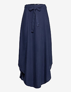 Skirts light woven - jupes longues - blue dark wash