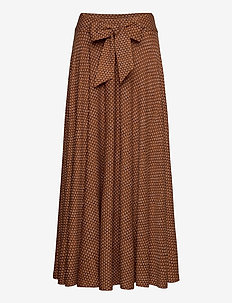 Skirts knitted - midi skirts - rust brown