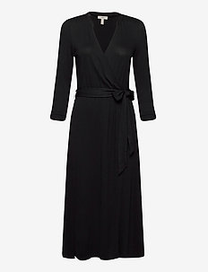 Dresses knitted - robes portefeuille - black