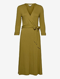 Dresses knitted - wrap dresses - olive