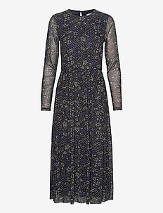 Dresses knitted - robes midi - navy 4