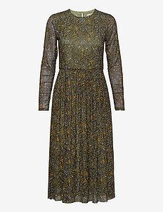 Dresses knitted - midi kjoler - olive 4