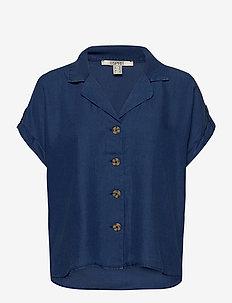 Blouses woven - kortermede bluser - blue dark wash