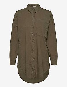 Blouses woven - langermede skjorter - olive