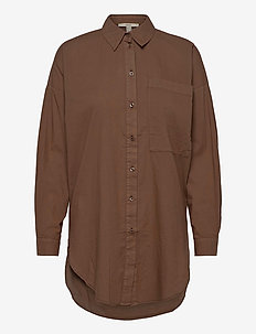 Blouses woven - long sleeved blouses - rust brown