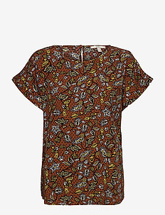 Blouses woven - kortermede bluser - rust brown 4