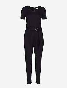 Overalls knitted - BLACK